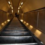 Rolltreppe in Londoner U-Bahn