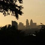 Londoner Skyline in der Abendsonne