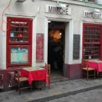 Typisches französisches Restaurant in Paris