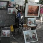 Kunststand am Montmartre in Paris