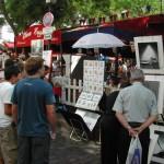 Künstlerstände am Montmartre in Paris