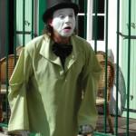 Clown am Montmartre in Paris