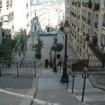 Treppen am Montmartre in Paris