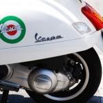 Eine Vespa in Modena (Italien)