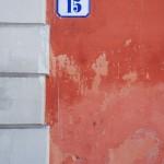 Hauswand in Modena (Italien)