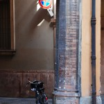 Ein Fahrrad in Modena (Italien)