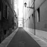 Gasse in Modena (Italien)
