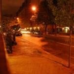 Nächtliche Straße in New York City