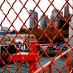 Maschendrahtzaun in New York City