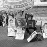 Porträtzeichner in Rom