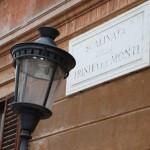 Straßenschild in Rom