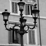 Klassische römische Hausfront