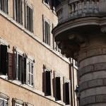 Typische italienische Hausfassade in Rom
