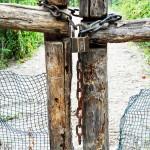 Eingang zu einem Garten auf Ischia