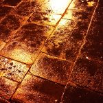 Regen auf Roms Straßen