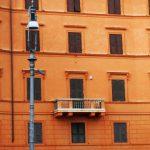 Klassische römische Hausfassade