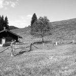 Almhütte in den Bergen von Bad Tölz