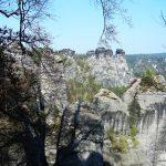 Eine typische Felslandschaft in der Sächsischen Schweiz