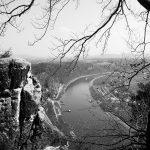 Blick auf die Elbe in der Sächsischen Schweiz