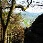 Ein Teil der Elbe in der Sächsischen Schweiz