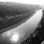 Flusstal der Elbe in der Sächsischen Schweiz