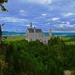 Das Schloss Neuschwanstein in Bayern