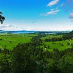 Bayrische Landschaft bei Schloss Neuschwanstein