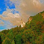 Das Schloss Neuschwanstein im Sonnenlicht