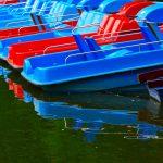 Tretboote im Englischen Garten in München