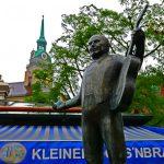 Musikanten-Figur auf dem Viktualienmarkt in München