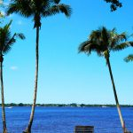 Blick auf den Caloosahatchee River von Henry Fords Winterresidenz in Fort Myers (Florida)