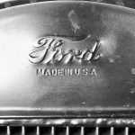 Branding eines alten Fords in der Winterresidenz von Henry Ford in Fort Myers (Florida)
