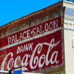 Alte Coca-Cola-Werbung in Amelia Island (Florida)
