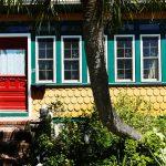 Vorderfront eines typischen Hauses in Amelia Island (Florida)