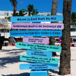 Zugang zur Southernmost Beach in the Continental USA in Key West (Florida)
