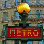 Métroschild in Paris