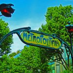 Altes Metroschild in Paris
