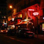 Nachts auf den Straßen von Paris