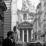 Blick auf die Basilika Sacré-Coeur in Paris
