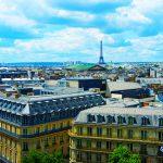 Blick auf den Eiffelturm von den Galeries Lafayette