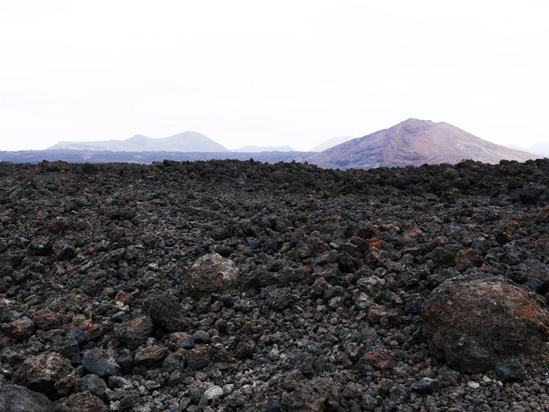 Vulkanlandschaft bei Los Hervideros (Lanzarote)
