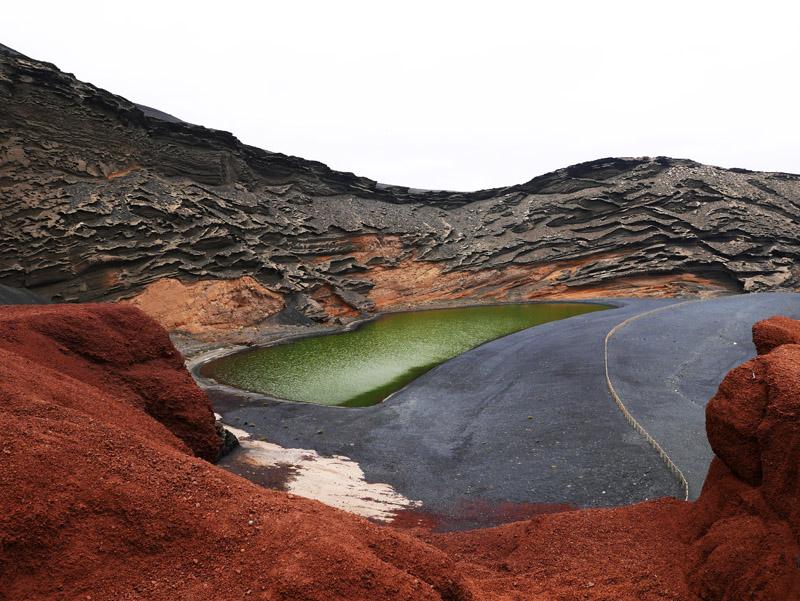 Kratersee bei El Golfo (Lanzarote)