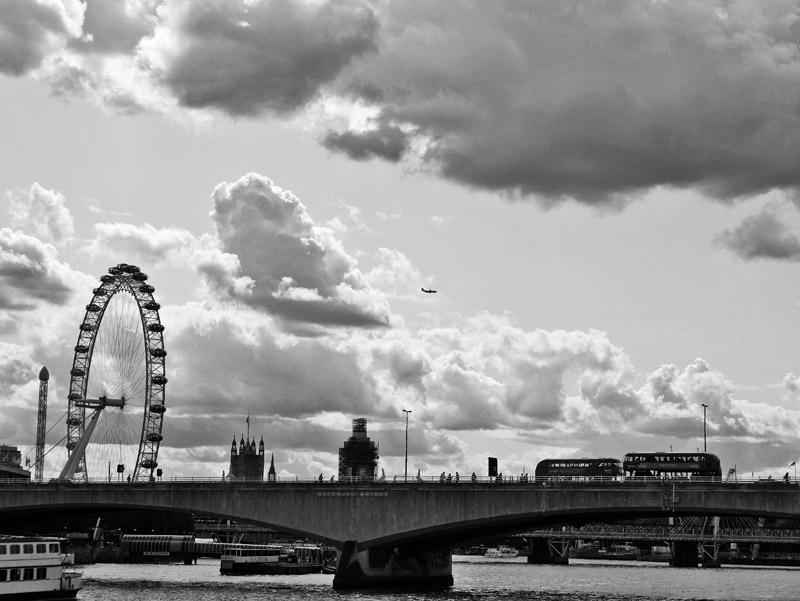 Die Waterloo Bridge in London