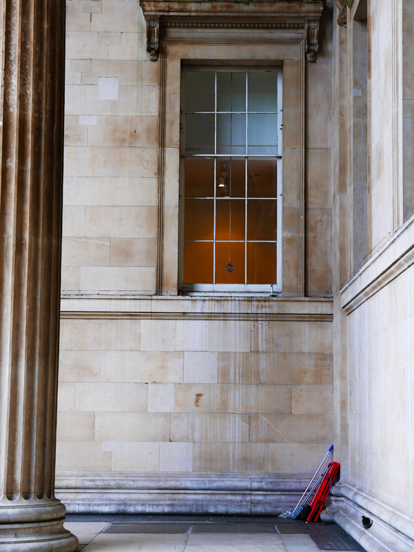 Außenbereich des British Museum in London