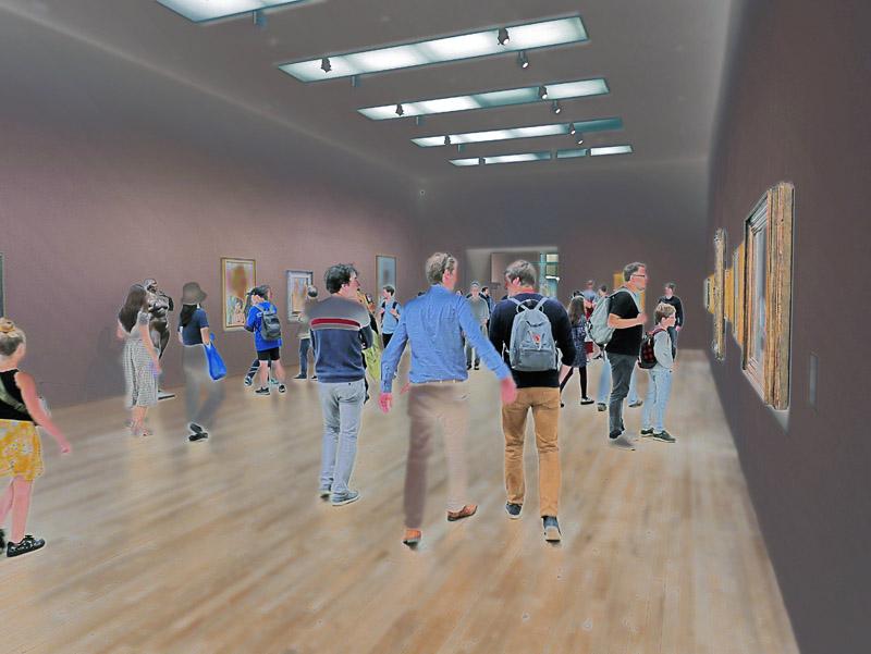 Besucher des Londoner Tate Modern