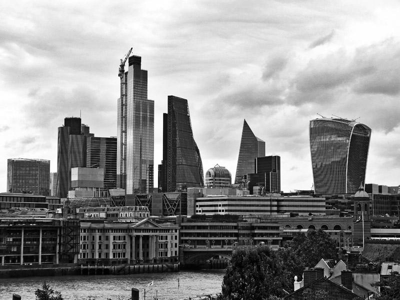 Blick auf die Londoner Skyline