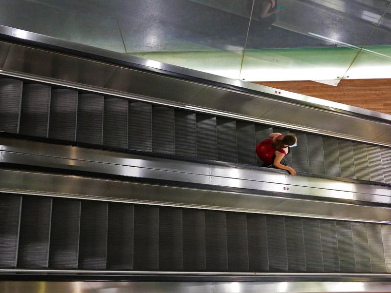 Rolltreppen im Tate Modern in London